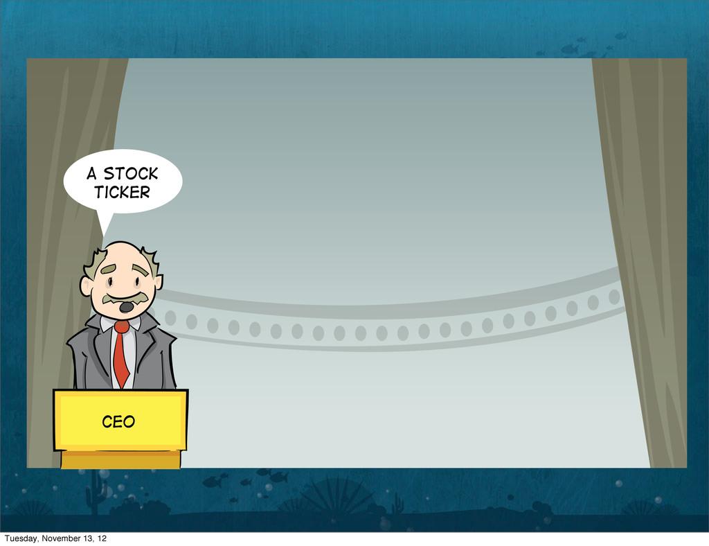 A Stock Ticker CEO Tuesday, November 13, 12