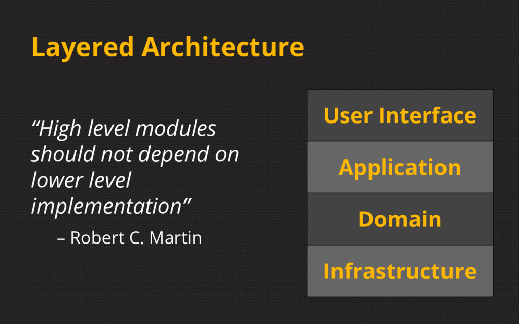 """Layered Architecture """"High level modules should..."""
