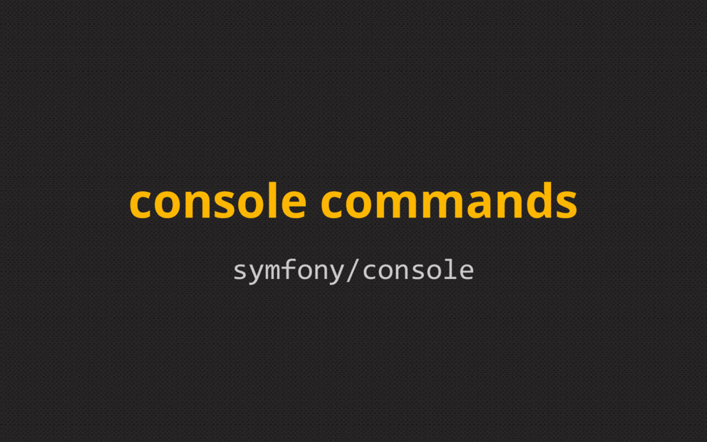symfony/console console commands