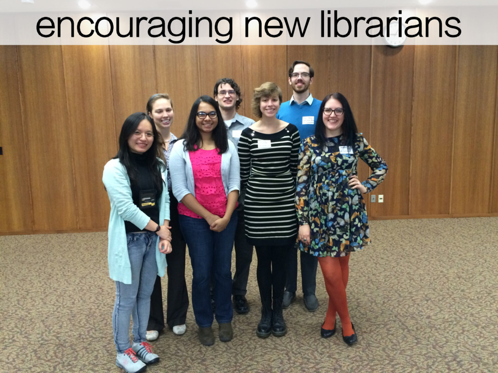 encouraging new librarians