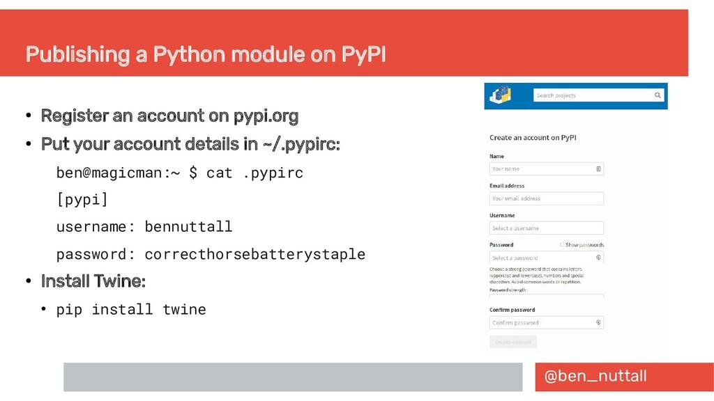 @ben_nuttall Publishing a Python module on PyPI...