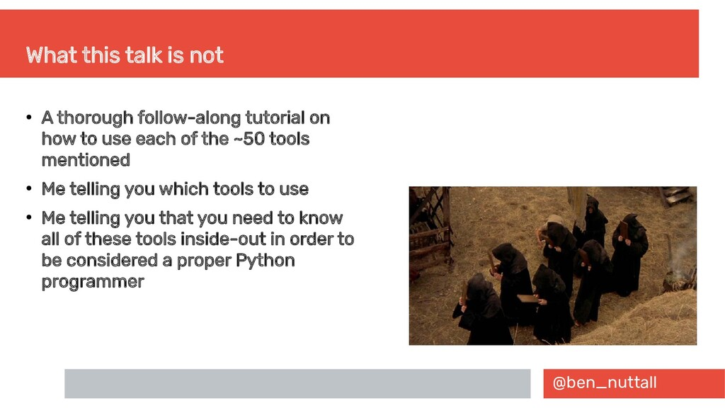 @ben_nuttall What this talk is not ● A thorough...