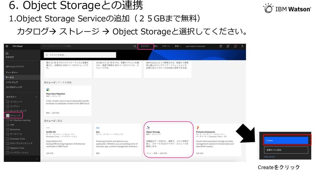 6. Object Storageとの連携 1.Object Storage Serviceの...
