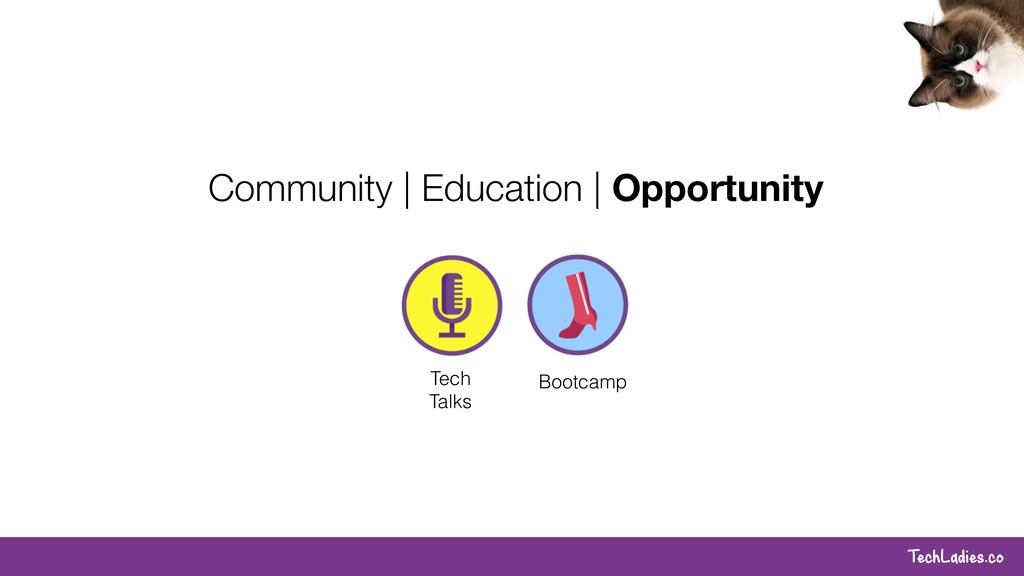 TechLadies.co Tech Talks Bootcamp Community   E...