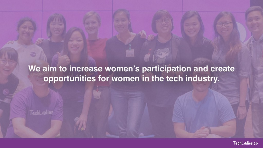 TechLadies.co We aim to increase women's partic...