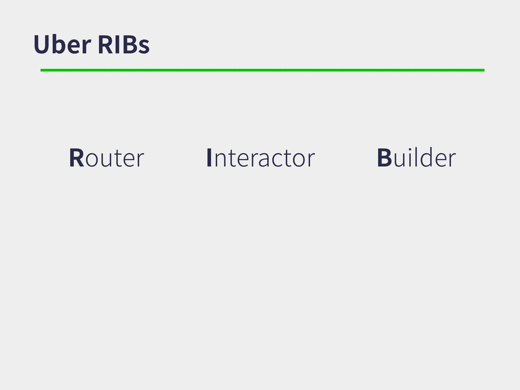 Uber RIBs Router Interactor Builder