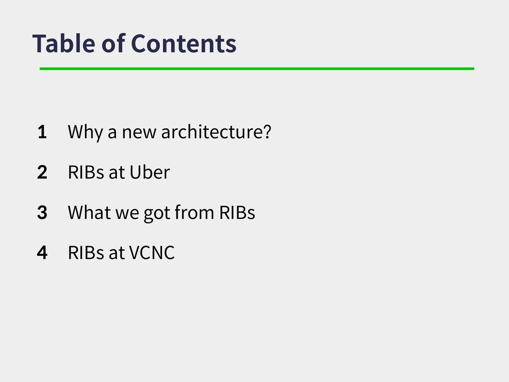 Table of Contents 1 Why a new architecture? 2 R...