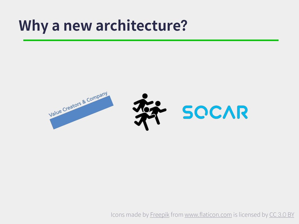 Why a new architecture? Icons made by Freepik f...