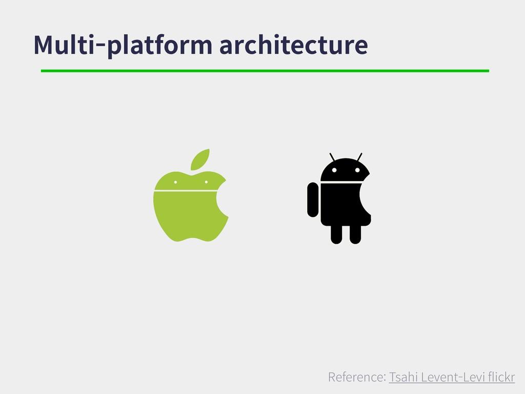 Multi-platform architecture Reference: Tsahi Le...