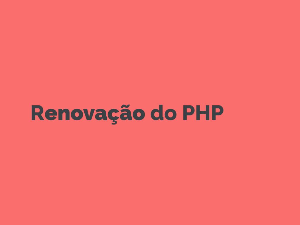 Renovação do PHP