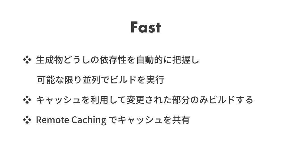 Fast ッ ッ ッ Remote Caching