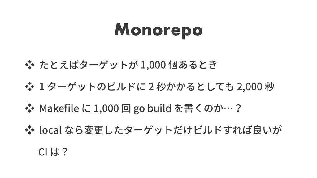 Monorepo ッ 1,000 ッ 1 2 2,000 ッ Make le 1,000 go...