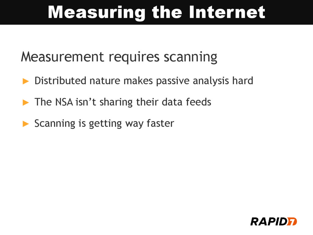 Measurement requires scanning ► Distributed nat...