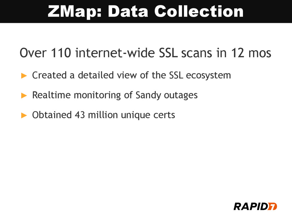 Over 110 internet-wide SSL scans in 12 mos ► Cr...