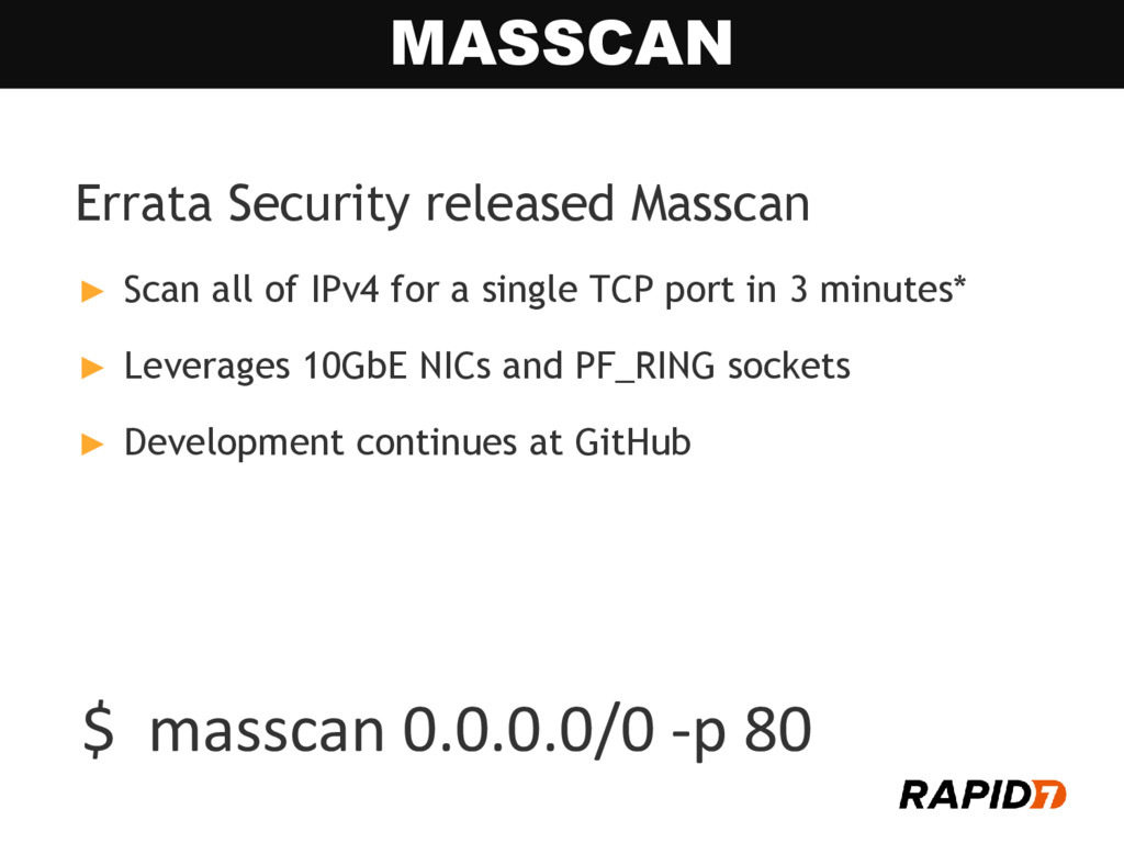 Errata Security released Masscan ► Scan all of ...