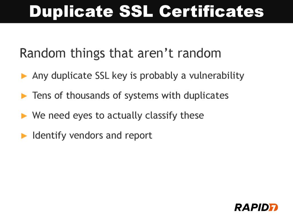 Random things that aren't random ► Any duplicat...