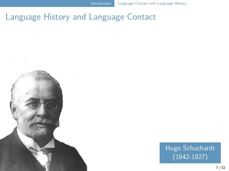 Introduction Language Contact and Language Hist...