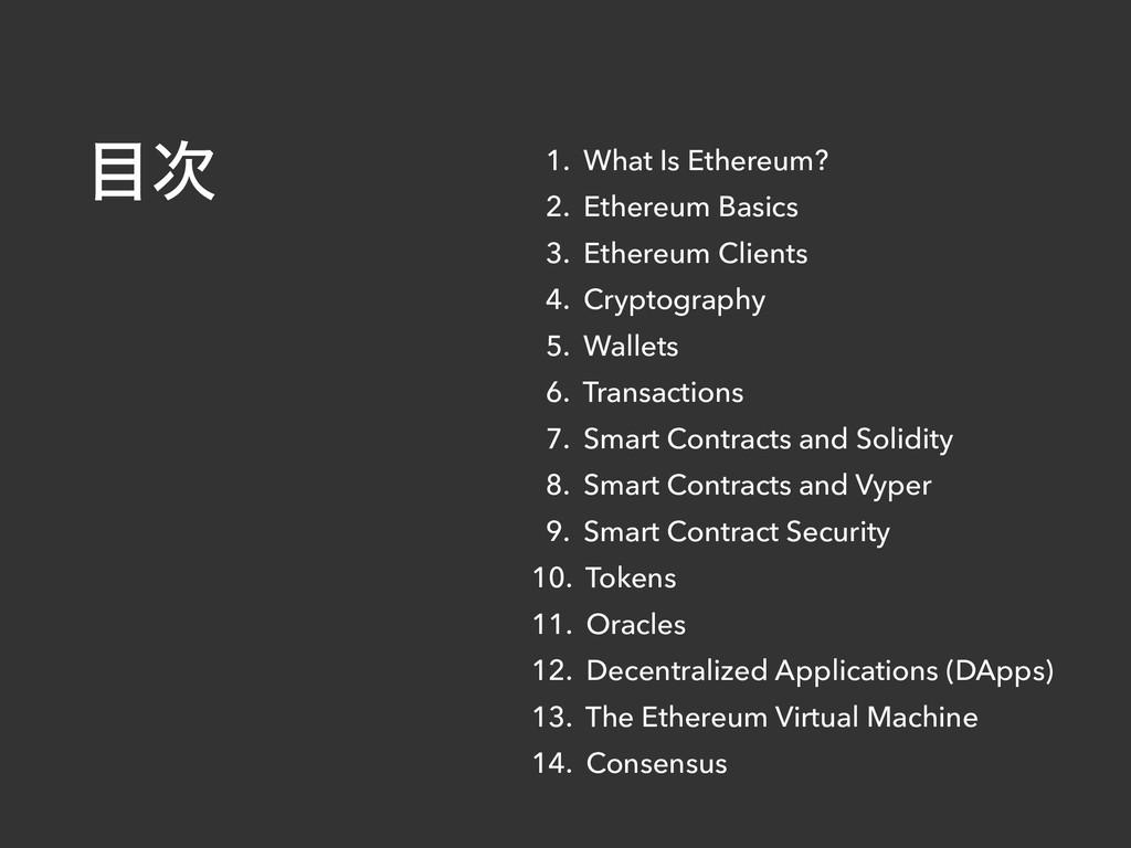 1. What Is Ethereum? 2. Ethereum Basics 3. Ethe...
