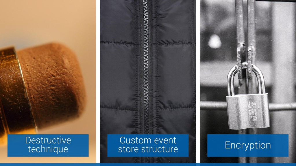 Custom event store structure Encryption Destruc...