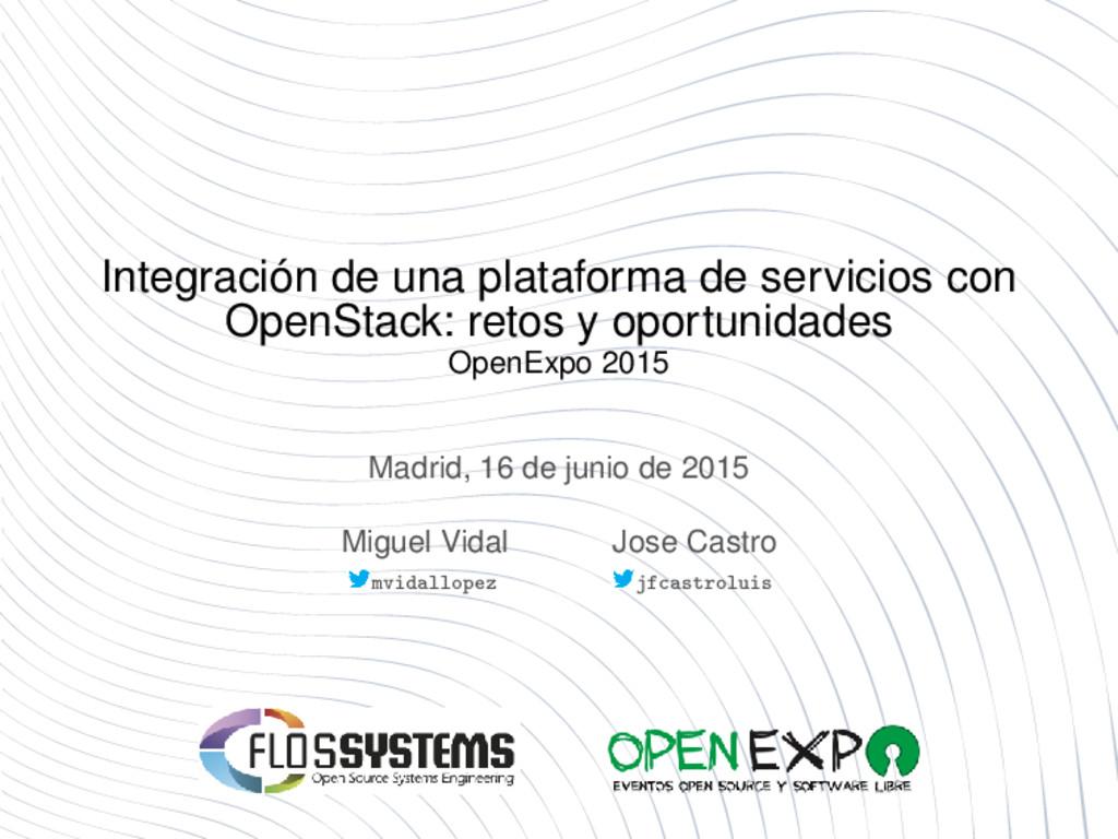 Integración de una plataforma de servicios con ...