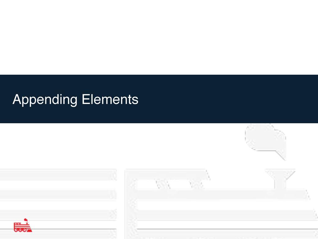 Appending Elements