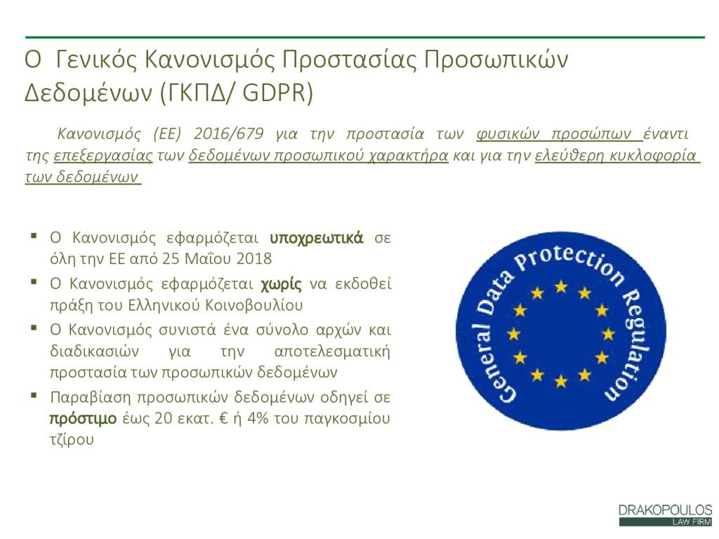 Ο Γενικός Κανονισμός Προστασίας Προσωπικών Δεδο...