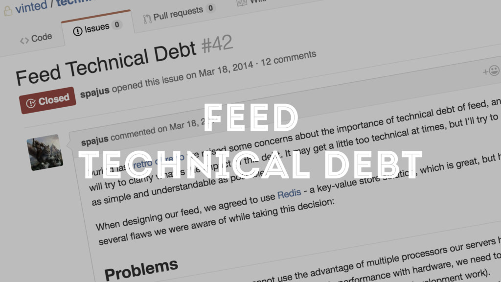 FEED TECHNICAL DEBT