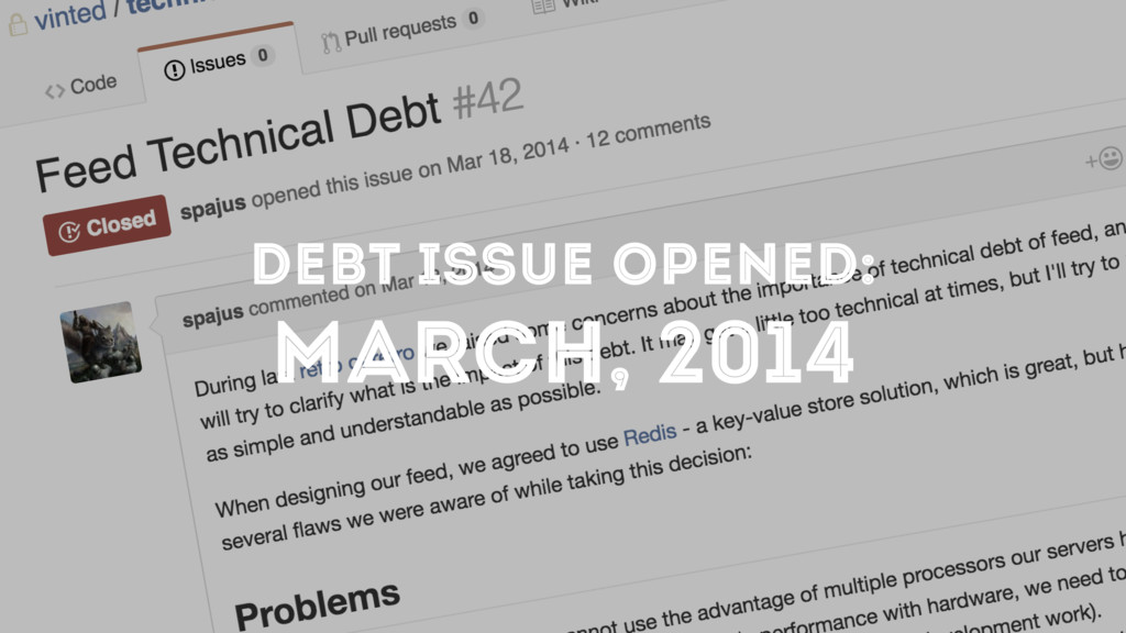 DEBT ISSUE OPENED: MARCH, 2014