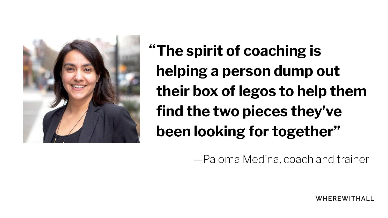 The spirit of coaching is helping a person dump...