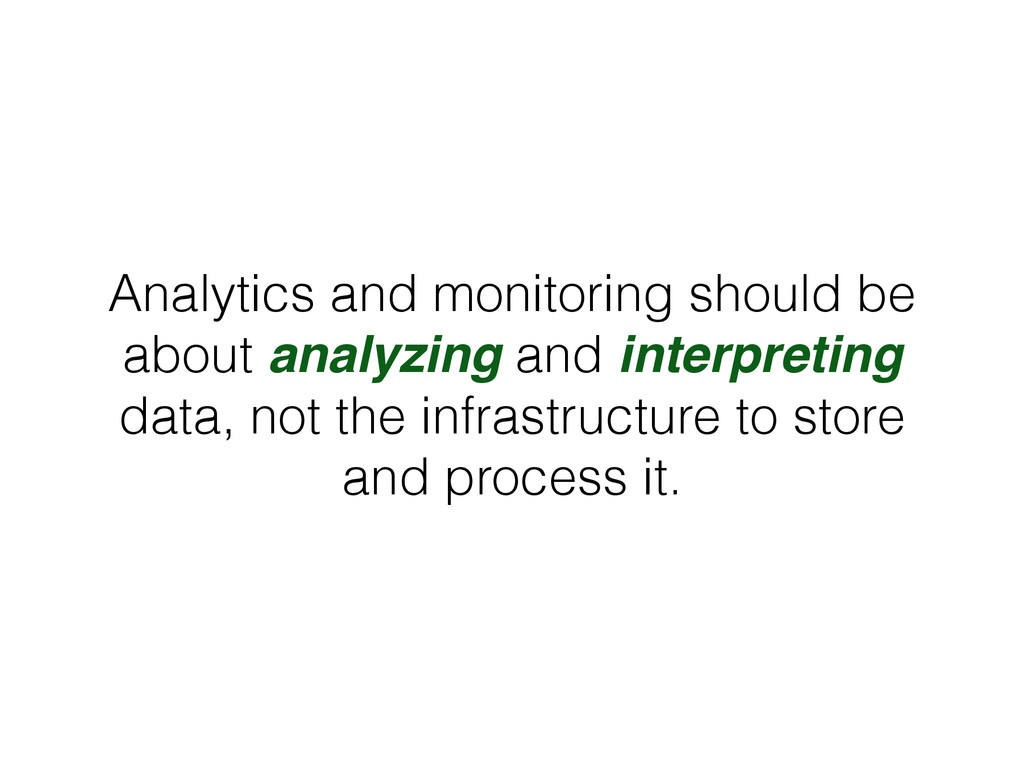 Analytics and monitoring should be about analyz...