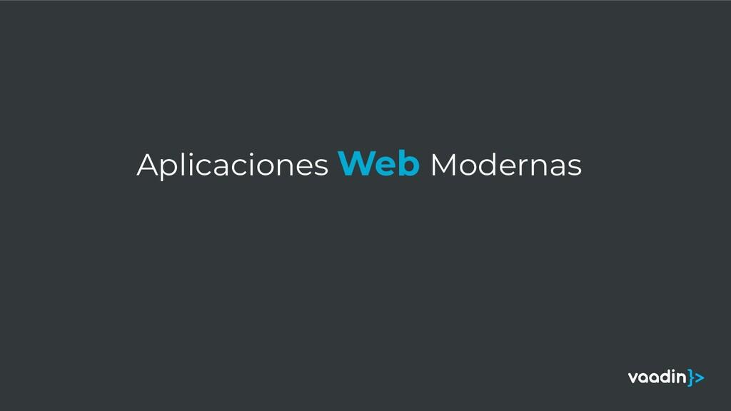 Aplicaciones Web Modernas