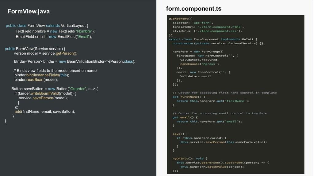 17 public class FormView extends VerticalLayout...