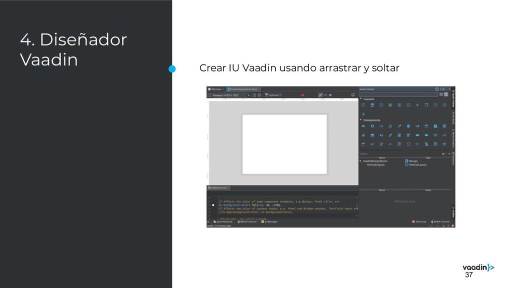 4. Diseñador Vaadin Crear IU Vaadin usando arra...