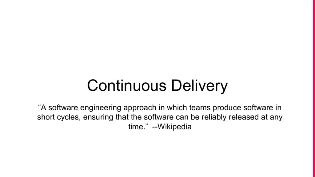 "Continuous Delivery ""A software engineering app..."