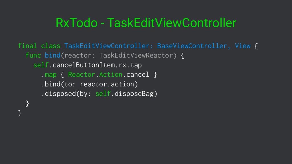 RxTodo - TaskEditViewController final class Tas...