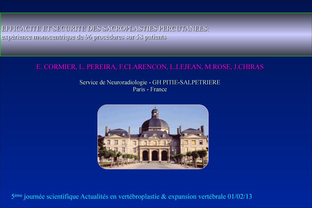E. CORMIER, L. PEREIRA, F.CLARENCON, L.LEJEAN, ...