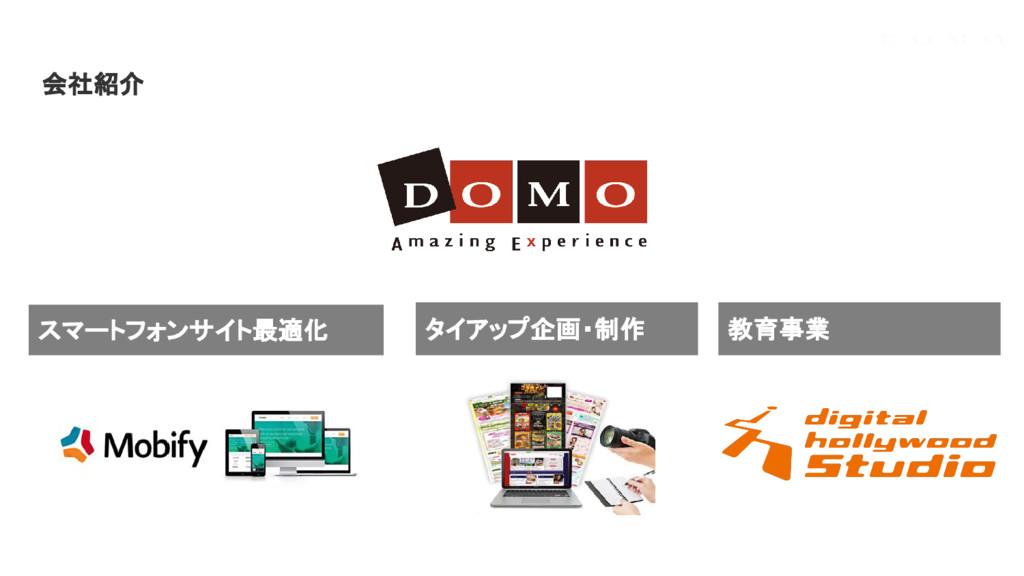 会社紹介 スマートフォンサイト最適化 タイアップ企画・制作 教育事業