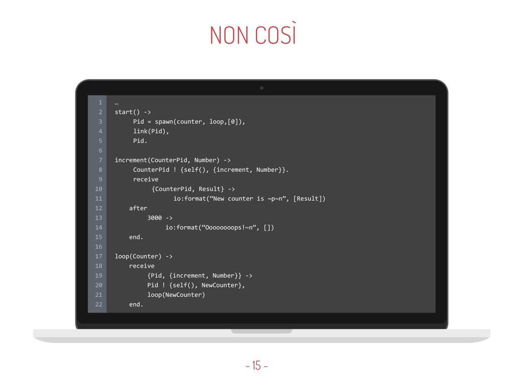 NON COSÌ - 15 -