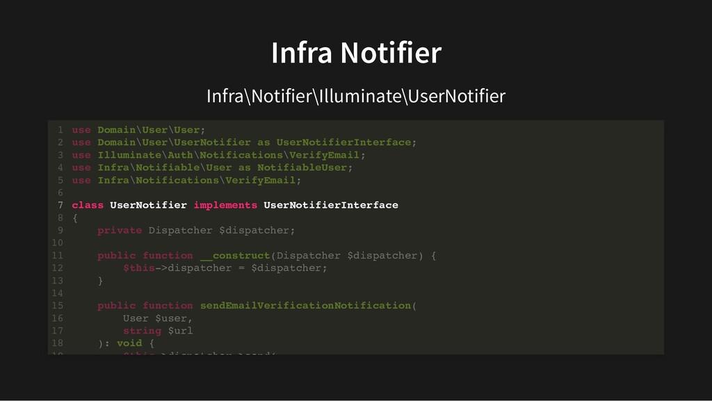 Infra Notifier Infra\Notifier\Illuminate\UserNo...