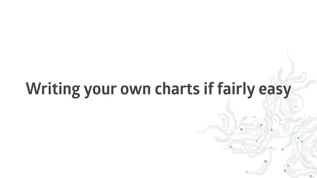 Writing your own charts if fairly easy
