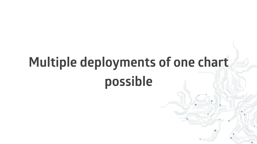Multiple deployments of one chart possible