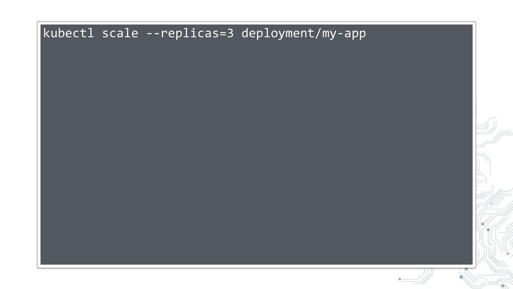 kubectl scale --replicas=3 deployment/my-app