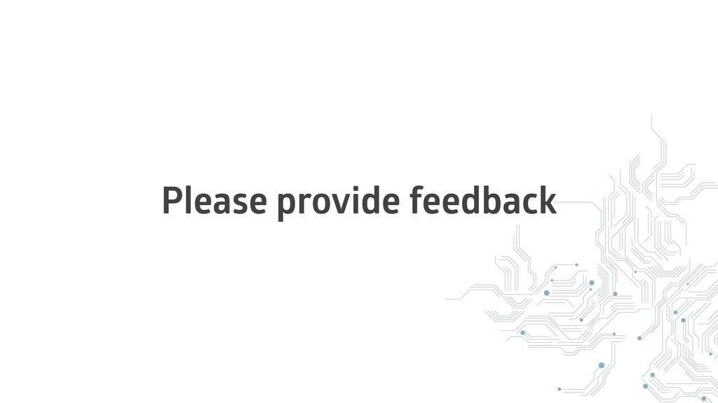 Please provide feedback