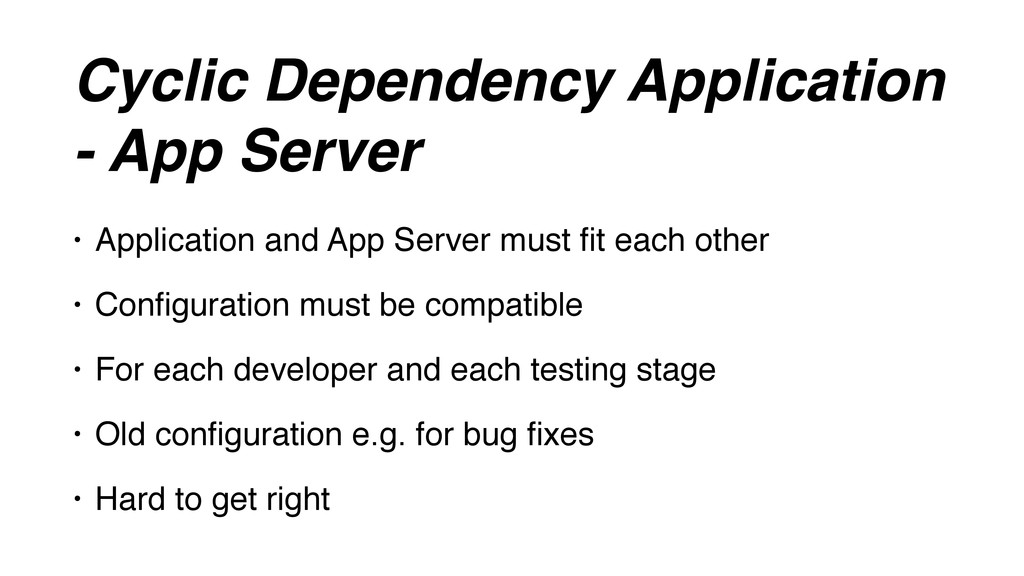 Cyclic Dependency Application - App Server • Ap...