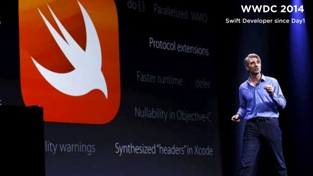 γΰτͰίίϩΦυϧ WWDC 2014 Swift Developer since Day1