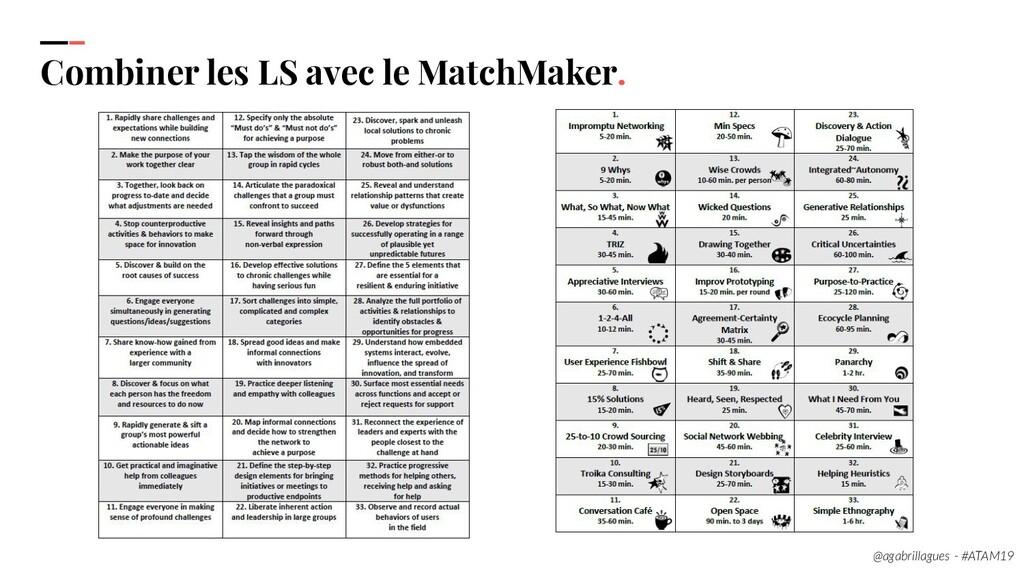 101. Combiner les LS avec le MatchMaker. @agabr...
