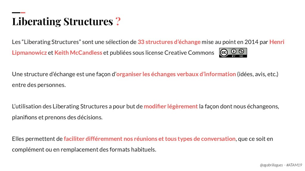 "8. Liberating Structures ? Les ""Liberating Stru..."