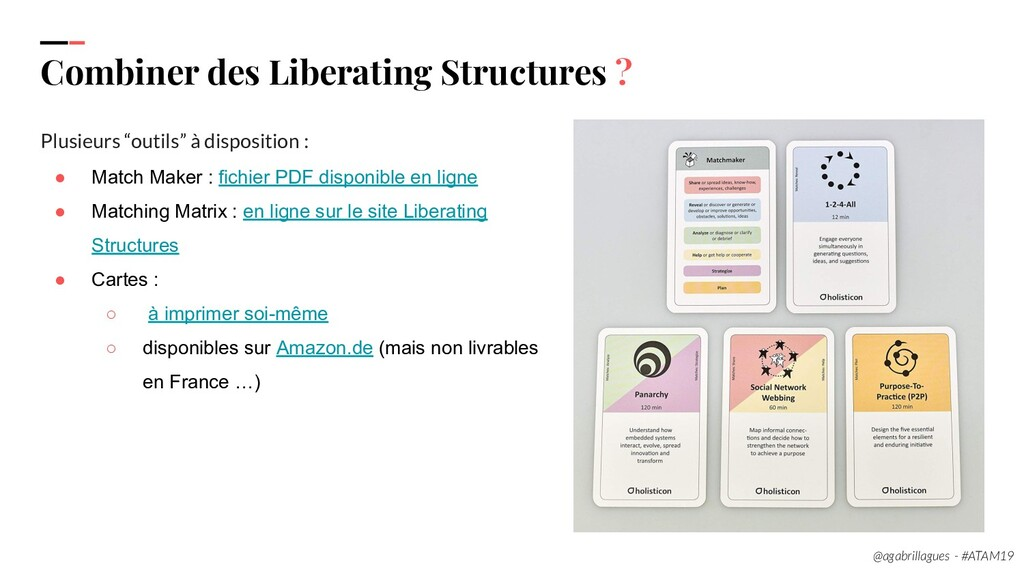 100 Combiner des Liberating Structures ? Plusie...