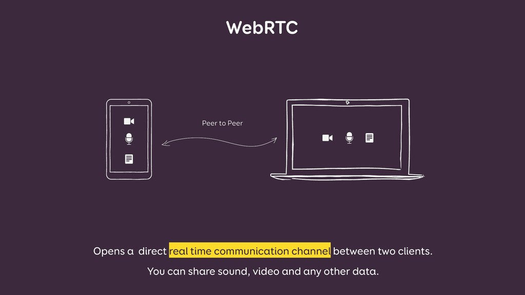 WebRTC Opens a direct real time communication c...