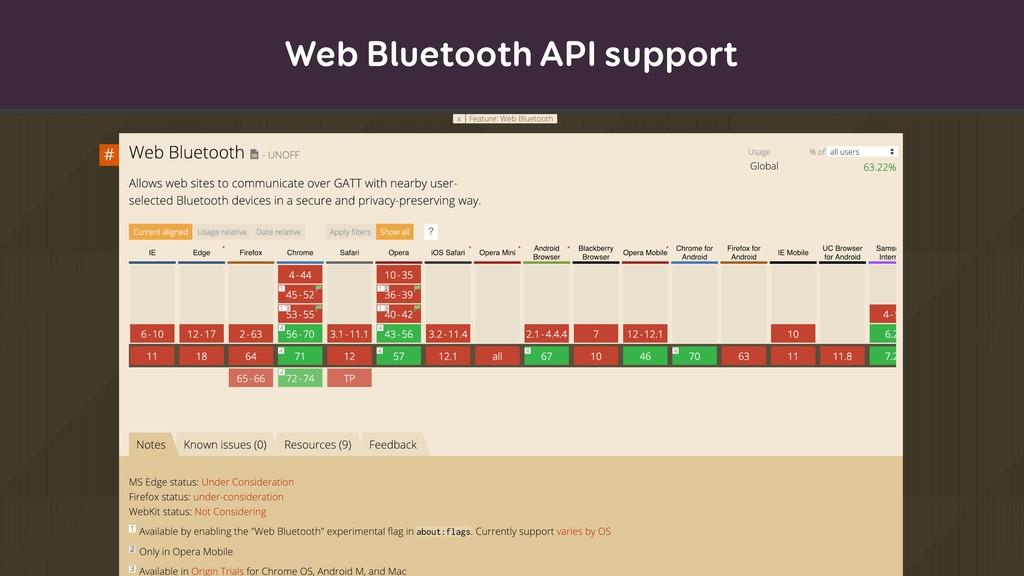 Web Bluetooth API support